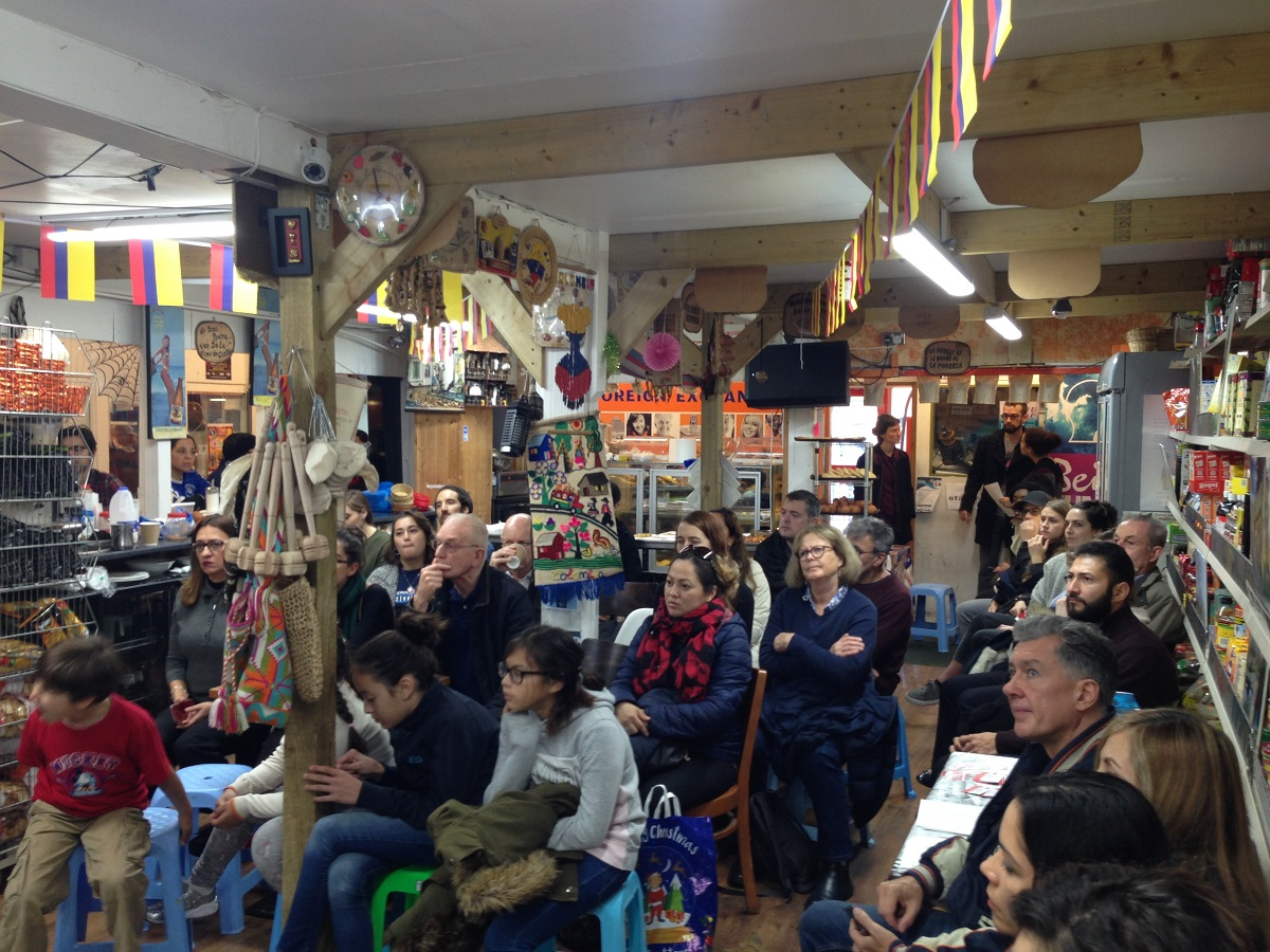 Event crows at Seven Sisters Indoor Market